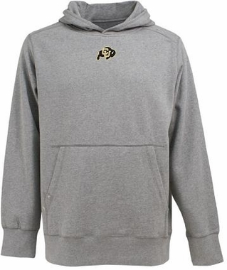 Colorado Mens Signature Hooded Sweatshirt (Color: Gray)