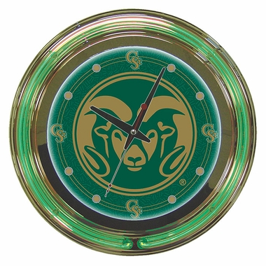 Colorado State 14 Inch Neon Clock