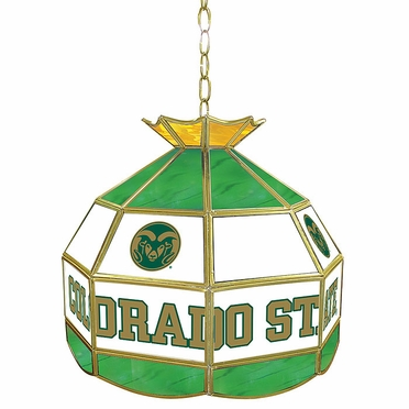 Colorado State 16 Inch Diameter Stained Glass Pub Light