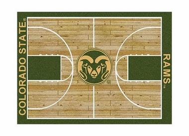 "Colorado State 3'10"" x 5'4"" Premium Court Rug"