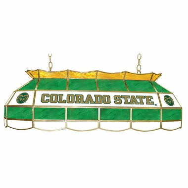 Colorado State 40 Inch Rectangular Stained Glass Billiard Light