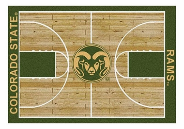 "Colorado State 5'4"" x 7'8"" Premium Court Rug"