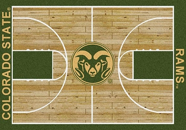 "Colorado State 7'8"" x 10'9"" Premium Court Rug"