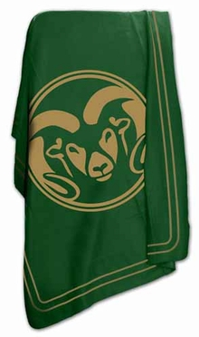 Colorado State Classic Fleece Throw Blanket