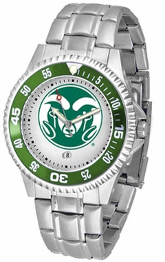 Colorado State Competitor Men's Steel Band Watch