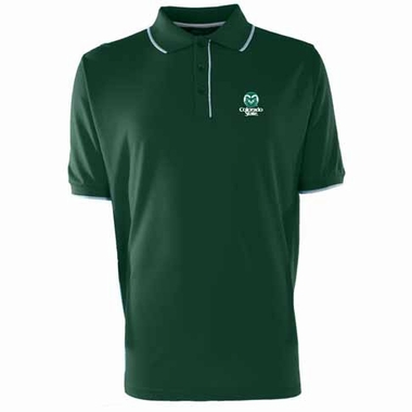 Colorado State Mens Elite Polo Shirt (Color: Green)