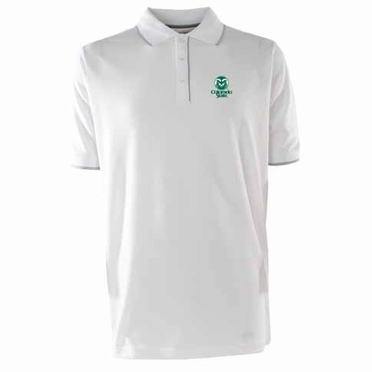 Colorado State Mens Elite Polo Shirt (Color: White)