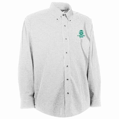 Colorado State Mens Esteem Check Pattern Button Down Dress Shirt (Color: White)