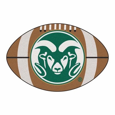 Colorado State Football Shaped Rug