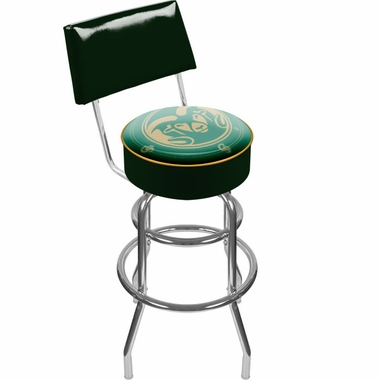 Colorado State Padded Bar Stool with Back