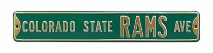 Colorado State Rams Ave Street Sign