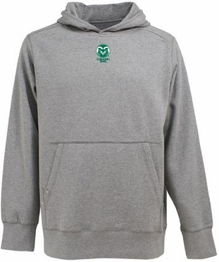 Colorado State Mens Signature Hooded Sweatshirt (Color: Gray)