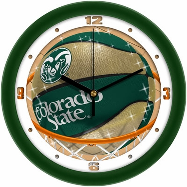 Colorado State Slam Dunk Wall Clock