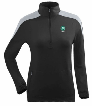 Colorado State Womens Succeed 1/4 Zip Performance Pullover (Team Color: Black)