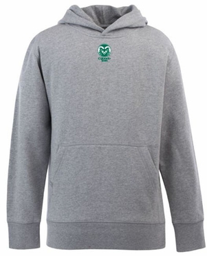 Colorado State YOUTH Boys Signature Hooded Sweatshirt (Color: Gray)