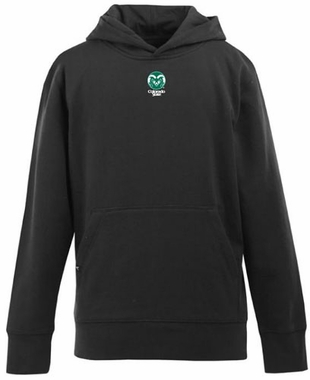 Colorado State YOUTH Boys Signature Hooded Sweatshirt (Team Color: Black)