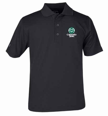 Colorado State YOUTH Unisex Pique Polo Shirt (Team Color: Black)