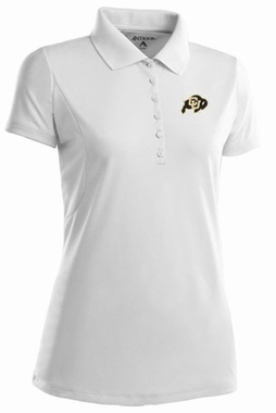Colorado Womens Pique Xtra Lite Polo Shirt (Color: White)