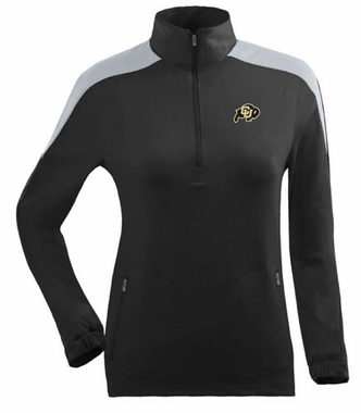 Colorado Womens Succeed 1/4 Zip Performance Pullover (Team Color: Black)