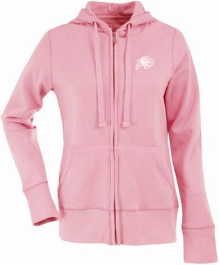 Colorado Womens Zip Front Hoody Sweatshirt (Color: Pink)