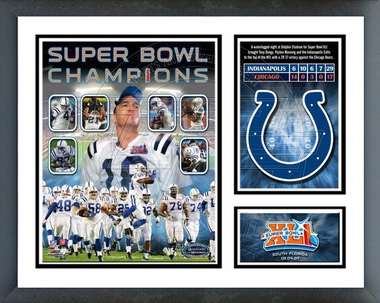 Colts SuperBowl XLI Champions Framed Milestones & Memories