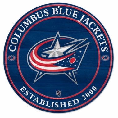 Columbus Blue Jackets 19.75 Inch Wood Sign