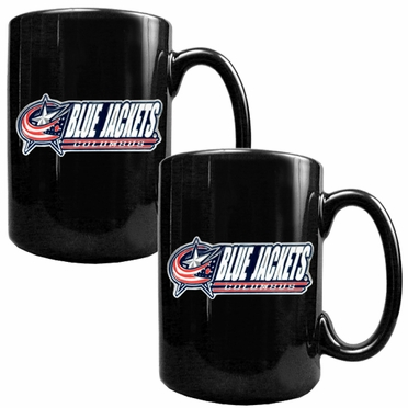 Columbus Blue Jackets 2 Piece Coffee Mug Set (Wordmark)