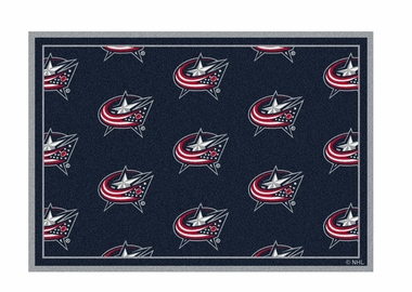 "Columbus Blue Jackets 3'10"" x 5'4"" Premium Pattern Rug"