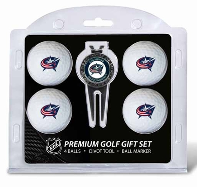Columbus Blue Jackets 4 Ball and Tool Gift Set