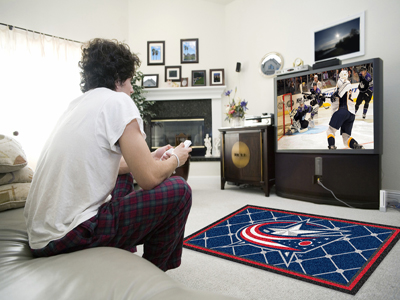 Columbus Blue Jackets 4 Foot x 6 Foot Rug