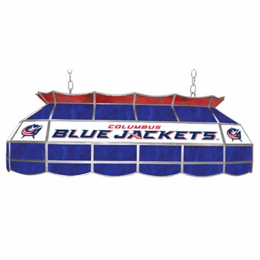 Columbus Blue Jackets 40 Inch Rectangular Stained Glass Billiard Light