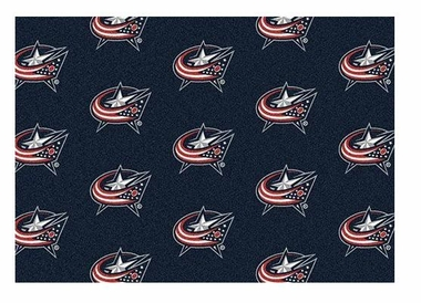 "Columbus Blue Jackets 5'4"" x 7'8"" Premium Pattern Rug"