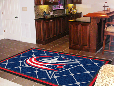 Columbus Blue Jackets 5 Foot x 8 Foot Rug