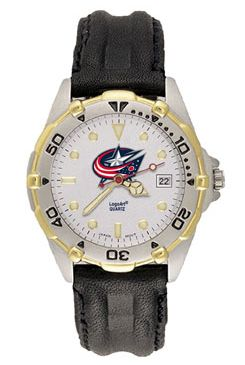 Columbus Blue Jackets All Star Mens (Leather Band) Watch