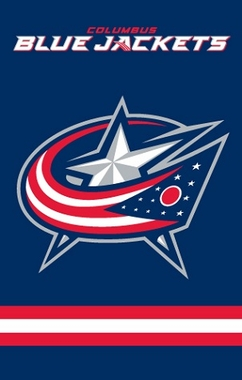 Columbus Blue Jackets Applique Banner Flag