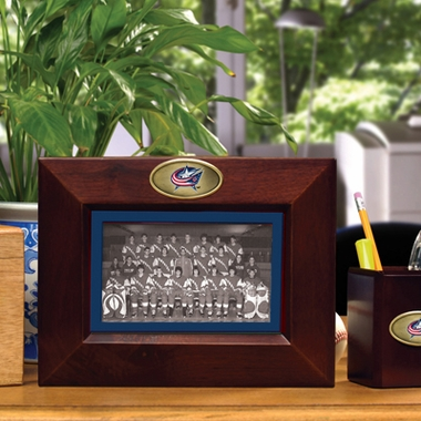 Columbus Blue Jackets BROWN Landscape Picture Frame