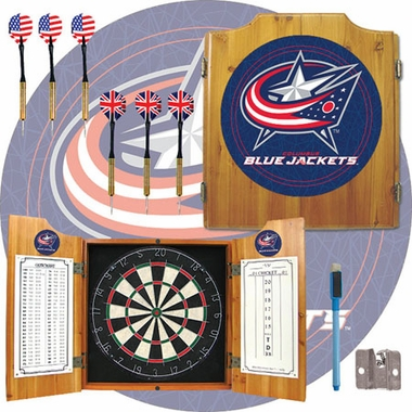 Columbus Blue Jackets Complete Dart Cabinet