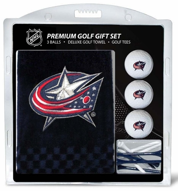 Columbus Blue Jackets Embroidered Towel Golf Gift Set