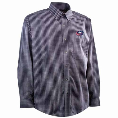 Columbus Blue Jackets Mens Esteem Button Down Dress Shirt (Team Color: Navy)