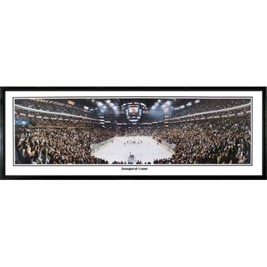 Columbus Blue Jackets Inaugural Game Framed Panoramic Print