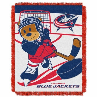 Columbus Blue Jackets Jacquard BABY Throw Blanket