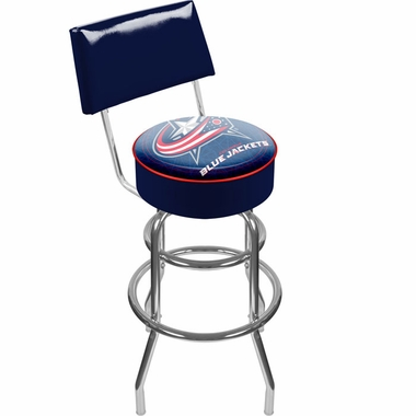 Columbus Blue Jackets Padded Bar Stool with Back