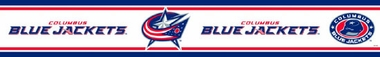 Columbus Blue Jackets Peel and Stick Wallpaper Border
