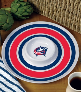 Columbus Blue Jackets Plastic Chip and Dip Plate