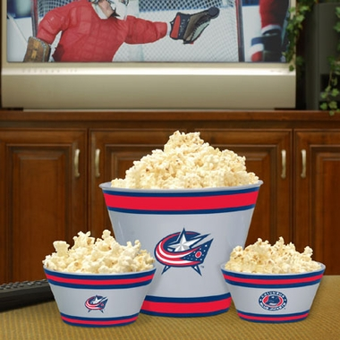 Columbus Blue Jackets Plastic Serving Set