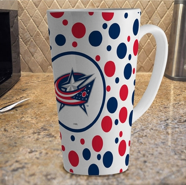 Columbus Blue Jackets Polkadot 16 oz. Ceramic Latte Mug