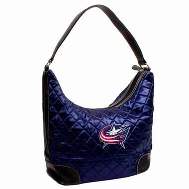 Columbus Blue Jackets Quilted Hobo Purse