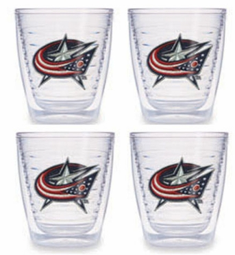 Columbus Blue Jackets Set of FOUR 12 oz. Tervis Tumblers
