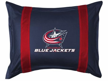 Columbus Blue Jackets SIDELINES Jersey Material Pillow Sham