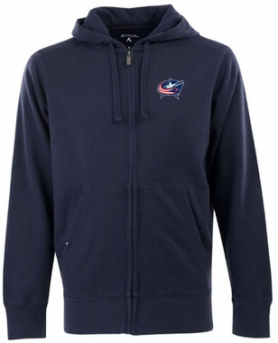 Columbus Blue Jackets Mens Signature Full Zip Hooded Sweatshirt (Team Color: Navy)